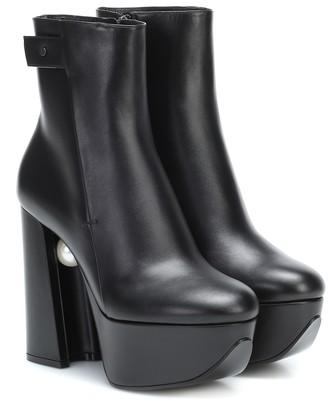 Nicholas Kirkwood Miri platform leather ankle boots