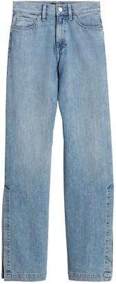 Banana Republic Petite High-Rise Wide-Leg Jean with Split Hem