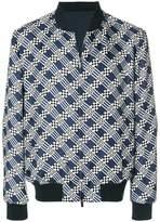 Fendi zipped bomber jacket
