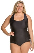 Speedo Conservative Ultraback Plus Size One Piece with Princess Seam 42738