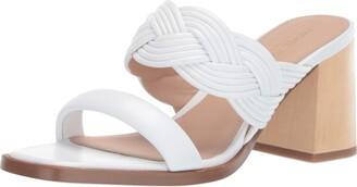 Rachel Zoe Women's Tara Peep Toe Mule Heeled Sandal