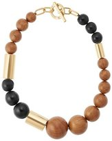 Michael Kors Wooden Mixed-Bead Necklace