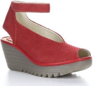 Fly London Nubuck Rubber Heel Sandals - Yala Perf