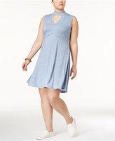 ING Trendy Plus Size Cutout A-Line Dress
