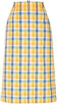 Thom Browne High Waist Cuban Pocket Skirt In Small Madras Check Double Woven Cotton
