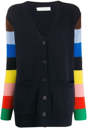 Chinti and Parker Striped Button-Up Cardigan