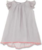 Marie Chantal Grey Floaty Silk Dress