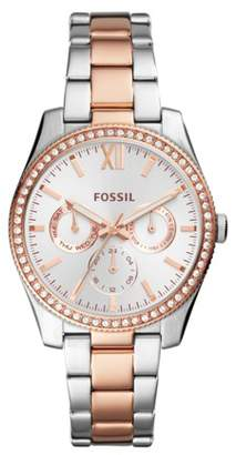 Fossil Scarlette Multifunction Two-Tone Stainless Steel Watch Jewelry