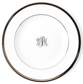 Pickard Ultra-White Script Monogram Bread & Butter Plate