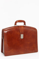 Bosca Men's Triple Compartment Leather Briefcase - Brown