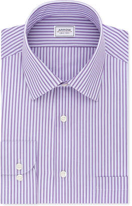 Arrow Men Athletic-Fit Stripe Dress Shirt