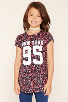 Forever 21 FOREVER 21+ Girls Floral Graphic Tee (Kids)