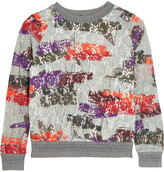Raoul Printed cotton-blend lace sweatshirt