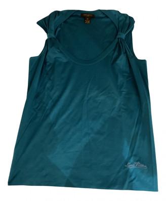 Louis Vuitton Turquoise Cotton Tops