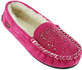 Lamo Suede Moccasin w/ Faux Fur Lining & Studs - Icicle