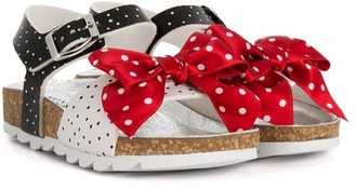 MonnaLisa Polka Dot Bow Sandals
