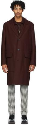 Ami Alexandre Mattiussi Burgundy Unconstructed Coat