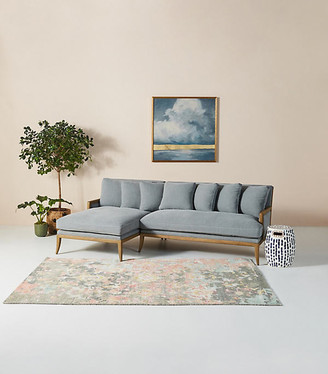 Anthropologie Florence L-Shaped Sectional By in Beige Size ALL