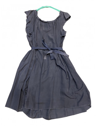 Prada Grey Silk Dresses