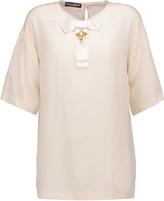 Dolce & Gabbana Embellished silk crepe de chine top