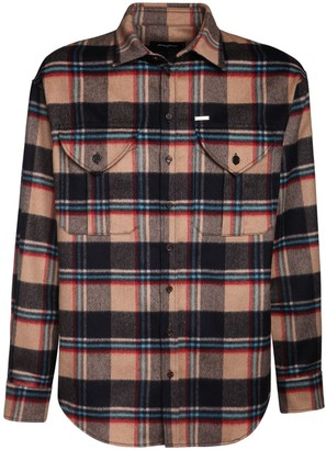DSQUARED2 Military Check Wool Shirt