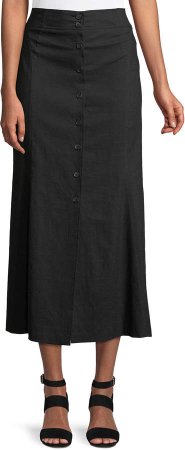 c1db12402da9 Black Skirt With Buttons - ShopStyle