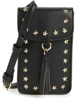 BP Studded Faux Leather Phone Crossbody Bag - Black