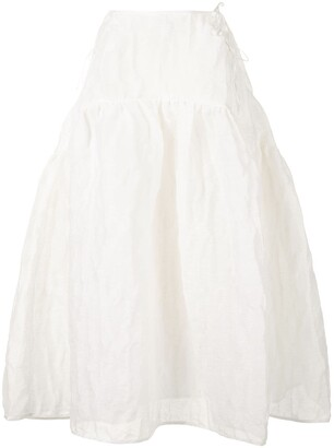 Cecilie Bahnsen Lily crinkle midi bell skirt