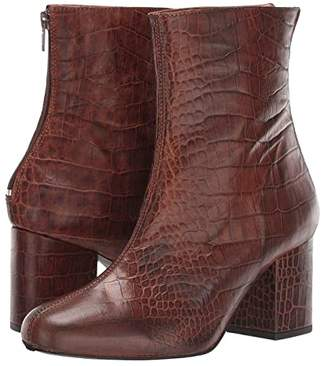 Free People Croc Cecile Ankle Boot (Chocolate) Women's Shoes