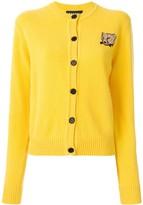 Markus Lupfer leopard patch button-up cardigan