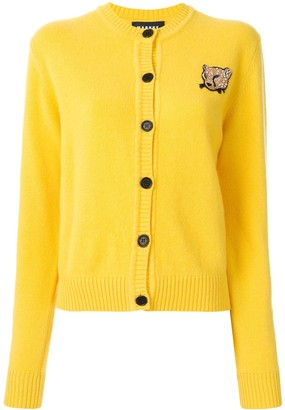 Markus Lupfer Leopard Patch Button-Up Cardigan