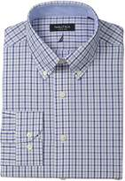 Nautica Men's Check Shirt with Button Down Collar