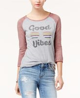 Hybrid Juniors' Good Vibes Graphic T-Shirt