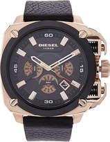 Diesel DZ7346 Rose Gold-Tone & Black Watch
