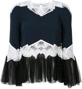Jonathan Simkhai lace inserts blouse - women - Polyamide/Polyester/Spandex/Elastane/Viscose - XS