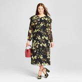 Who What Wear Women's Plus Size Flutter Shoulder Dress