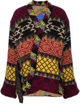 Etro jacquard pattern belted jacket