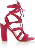 Gianvito Rossi WOMEN'S LACE-UP GLADIATOR SANDALS-PINK SIZE 6