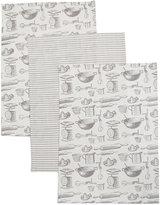 Marks and Spencer Set of 3 Bake Print Tea Towel