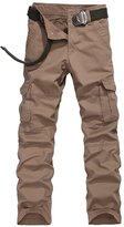 URBANFIND Men's Regular Fit Cargo Pants US Size 32 Ocher Style