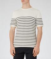 Reiss Reiss Edmond - Breton Stripe Jumper In White