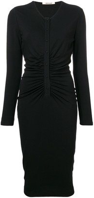 Roberto Cavalli Fitted Midi Dress