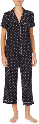 Kate Spade diamond-pattern capri pajama set