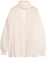Balenciaga Silk Crepe De Chine Shirt - Cream