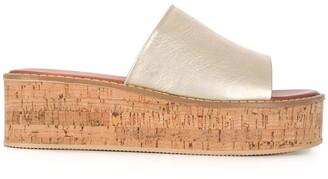 Kurt Geiger Maci cork flatform slides