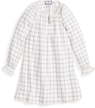 Petite Plume Girl's Delphine Tattersall Check Nightgown, Size 6M-14