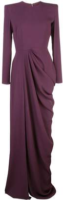 Alex Perry side slit evening gown