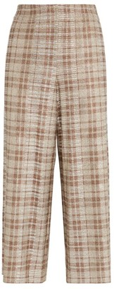 Alice + Olivia Alice+Olivia Elba Check Cropped Trousers
