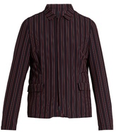 Wooyoungmi Point-collar striped blazer
