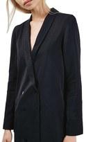 Topshop Women's Dot Jacquard Slouchy Blazer